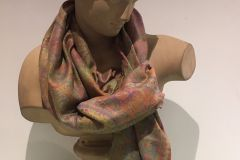 Scarf (Pashmina): Deluxe Olive Green & Red