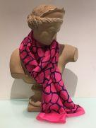 Scarf (Silk): Bold Pink TVB97