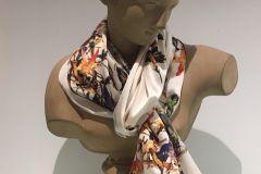 Scarf (Silk): Hummingbird TQV39
