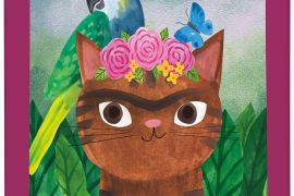 Jigsaw (100 piece Tin Puzzle):  Artsy Cats - Frida