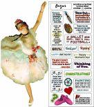 Card (UPG ): Degas Ballerina Quotable Notable Card