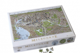 Jigsaw (1000 piece rectangular): The Melbourne Map