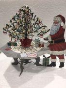 Card (3D Pop up): Christmas - Santa's Tree Table