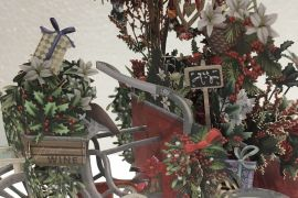 Card (3D Pop up): Christmas - Christmas Florist