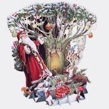 Card (3D Pop up): Christmas - Down in the Forest