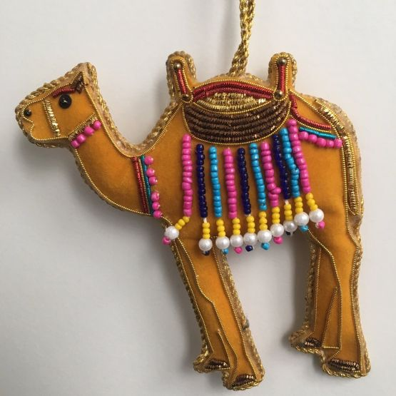 Decoration: Beaded camel