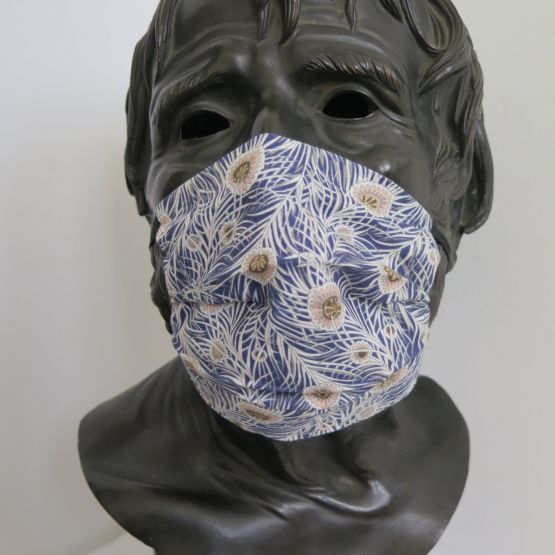 TJC Liberty Face Mask: Peacock Blue