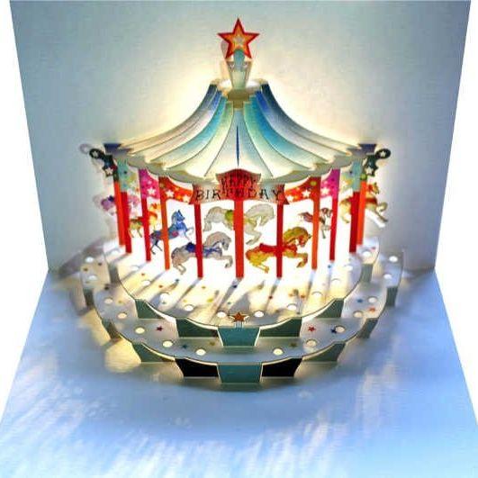 Card: Happy Birthday Carousel