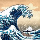 Card: Hokusai's Dog