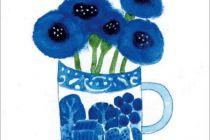 Card: Cornflowers in Wedgewood