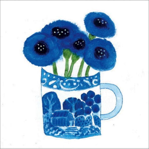 Card: Cornflowers in Wedgewood