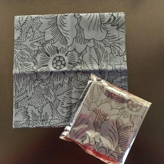 TJC Handkerchief: Morris & Co Poppy (Navy)