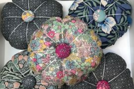 Pin Cushion: Liberty Print Pumpkin