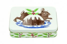 Tin (Thornback and Peel): Biscuit Tin Christmas Rabbit & Pudding