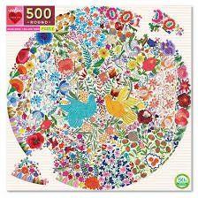 Jigsaw (500 piece circular): Blue Bird