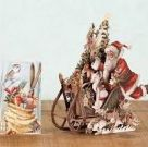 Card (3D Pop up): Christmas - Woodland Sleigh