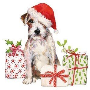 Paper Napkins (Lunch): Christmas - Christmas Pup
