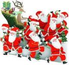 Card (3D Pop up): Christmas - Santa Power