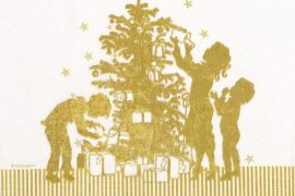 Paper Napkins (Lunch): Christmas - Family Papercut