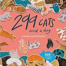 Jigsaw (300 piece circular):  299 cats and a dog