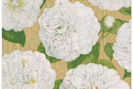 Paper Napkins (Lunch): Camellia Garden gold