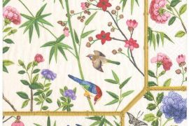 Paper Napkins (Lunch):Chinese Wallpaper cream