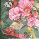 Paper Napkins (Lunch): Wild Rose green