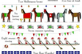 Tea Towel (Red Tractor Designs): 12 Days of Victoria