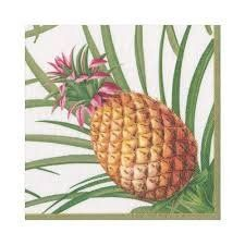 Paper Napkins (Lunch): Tropical Fruit White