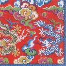 Paper Napkins (Lunch): Imperial Silk Red