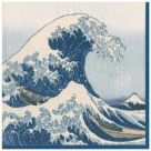 Paper Napkins (Lunch): The Great Wave  Blue