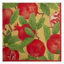 Paper Napkins (Lunch): Pomegranate Gold