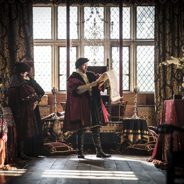 Damian Lewis as King Henry VIII in Wolf Hall. Image Broadcasting on 11 April 2015 on BBC First