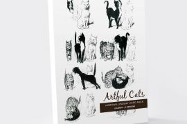 Card Set (Wallet): Norman Lindsay -  Artful Cats