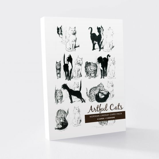 Card Set (Wallet): Norman Lindsay -  Artful Cats