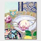 Card (Gabby Malpas): Magnolias, Plates and Lemon
