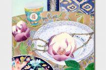 Card (Gabby Malpas): Magnolias, Plates and Lemon
