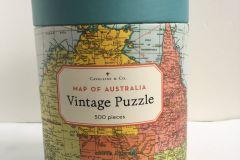 Jigsaw (500 piece puzzle): Vintage Puzzle - Map of Australia