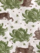 Tea Towel (Thornback & Peel): Rabbit & Cabbage