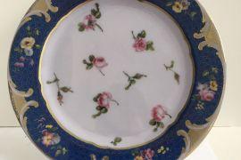 Tin Plate: Sevres Rosebuds Plate
