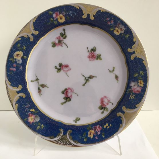 Tin Plate: Sevres Rosebuds Plate