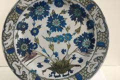 Tin Plate: Fitzwilliam Museum - Isnik Flowers