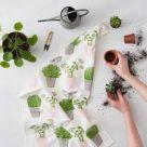 Tea Towel (Thornback & Peel): Cactus & Bird