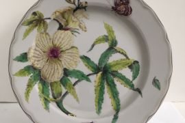 Tin Plate: Fitzwilliam Museum - Botanical Dessert Plate