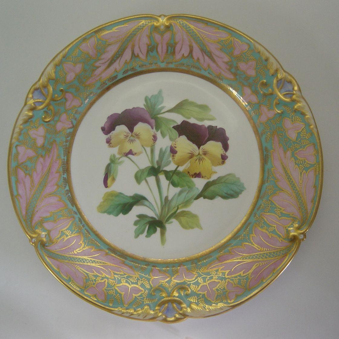 A0370_14 pansies Pansies (plate)