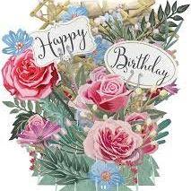 Card (3D Pop up): Birthday Flowers