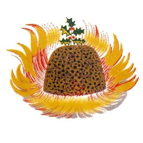 Card Set (Pack): Christmas Cards - Christmas pudding motif