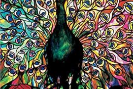 Jigsaw (1000 piece square puzzle) : Louis Comfort Tiffany- Displaying Peacock