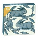 Card Set (Wallet): Mini Notecard -  William De Morgan Rabbits Running Along a Branch