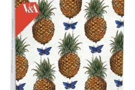 Card Set (Wallet): Mini Notecard - Pineapples and Butterflies